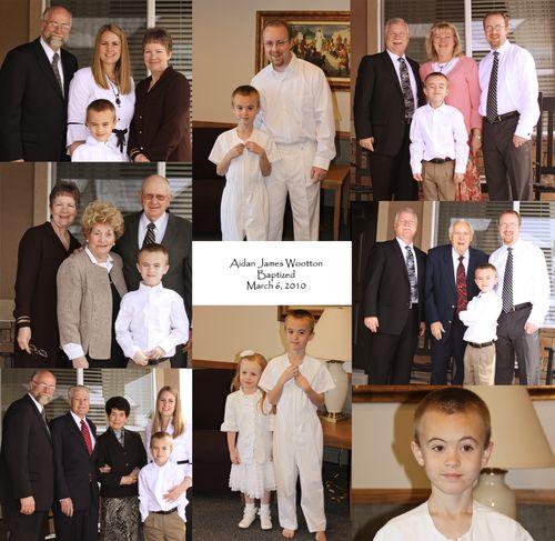 Aidans baptism pics